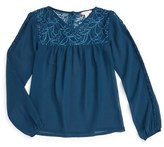 Ruby & Bloom Girl's Lace Trim Tunic
