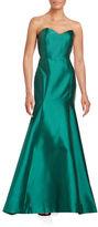 Erin Fetherston Strapless Satin Mermaid Gown