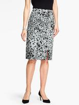 Talbots Animal-Print Pencil Skirt