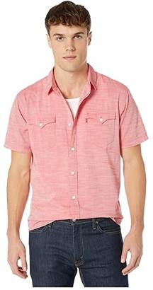 Levi's Bucci Short Sleeve Woven Shirt (Lychee) Men's Clothing