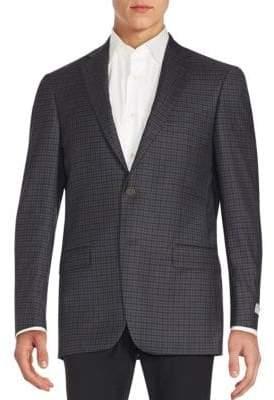 Hart Schaffner Marx Regular-Fit Plaid Wool Blazer