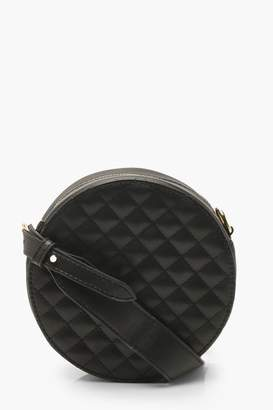 boohoo Quilted Drum Cross Body Bag With Wide Strap