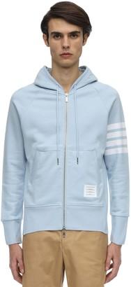 Thom Browne Zip-Up Cotton Sweatshirt Hoodie