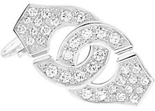 Dinh Van Menottes 18K White Gold & Diamond Earring