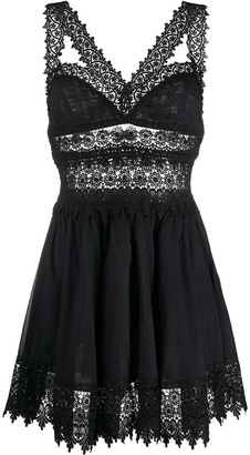 Charo Ruiz Ibiza Lace Trim Dress
