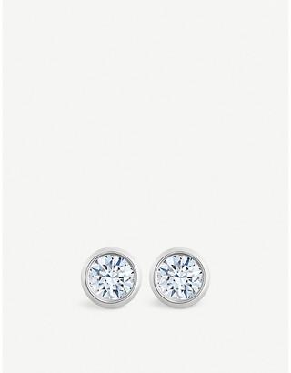 De Beers Women's Dewdrop 18ct White-Gold And Diamond Stud Earrings
