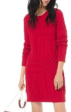 MICHAEL Michael Kors Cable-Knit Mini Sweater Dress