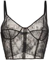 Olivier Theyskens sleeveless sheer silk lace cami top