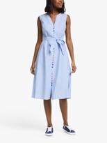 Boden Cecilia Linen Midi Dress, Chambray
