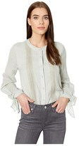 Miss Me Tie Sleeve Blouse (Mint Green) Women's Clothing