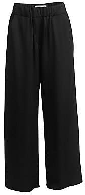 Loewe Women's Satin Wide-Leg Trousers