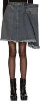 Facetasm Black Denim Miniskirt