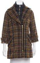 Veronica Beard Wool-Blend Plaid Coat