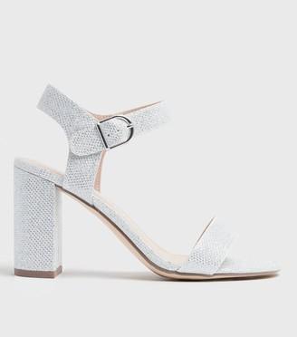 New Look Glitter 2 Part Block Heels