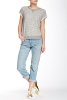 Spanx The Slim-X Casual Cuffed Distressed Jean