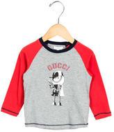 Gucci Boys' Logo Print Long Sleeve Shirt