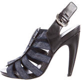 Sergio Rossi Slingback Cage Sandals