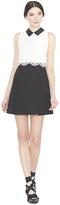 Alice + Olivia Desra Collared Flare Mini Dress