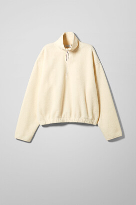Weekday Maja Fleece Sweatshirt - Beige