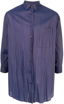 Issey Miyake Pre-Owned Wrinkled-Effect Asymmetric Shirt