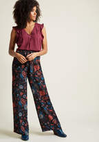 ModCloth Pocketed Wide-Leg Pants in Blossom in 2X