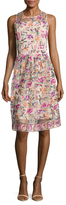 Alexia Admor Mesh Floral Flared Dress