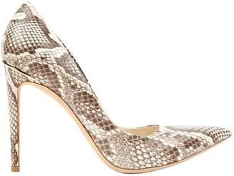 Louis Vuitton Beige Python Heels