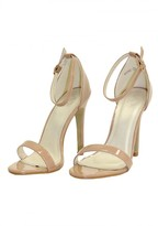 AX Paris Mocha Patent Barely There Heels