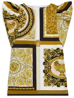 Versace Kids Barqoue Print Flared Dress (4-14 Years)