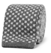 Canali 8cm Knitted Silk And Cashmere Tie - Gray