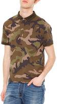 Valentino Camo-Print Short-Sleeve Polo Shirt