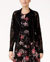 Thalia Sodi Lace Moto Jacket, Created for Macy's