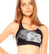 The Upside Women's Flower Grid Lottie Crop - Black/White