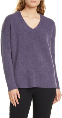 Eileen Fisher Boxy Cashmere Blend Sweater