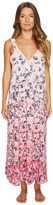 Oscar de la Renta 51 Printed Stretch De Chine Floral Gown Women's Robe