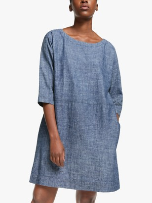 Eileen Fisher Chambray Linen Dress, Denim