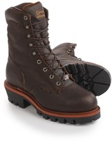 """Chippewa Logger Leather Work Boots - Steel Safety Toe, Waterproof, Insulated, 9"""" (For Men)"""