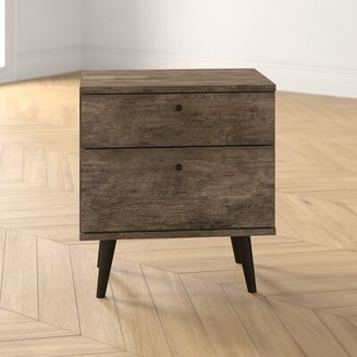 Noah 2 Drawer Nightstand Foundstone Color: Distressed Brown