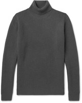 Solid Homme - Waffle-knit Wool And Cashmere-blend Rollneck Sweater - Dark gray