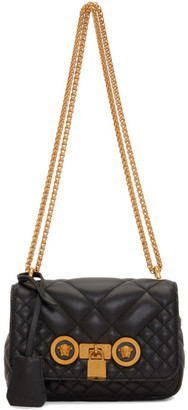 Versace Black Quilted Icon Bag