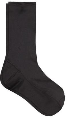 Darner Socks - Jersey Ankle Socks - Womens - Black