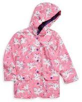 Hatley Little Girl's & Girl's Winged Unicorn Polyurethane Raincoat