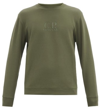 C.P. Company Applied-logo Cotton-jersey Sweatshirt - Green
