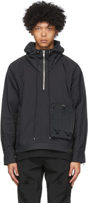 Blackmerle Black Hooded Anorak