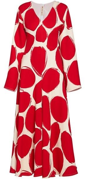 Marni Dotted Maxi Dress