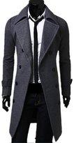 DreamMa Winter Warm Long Woolen Cloth Coat Men High Quality Long Trench Coat