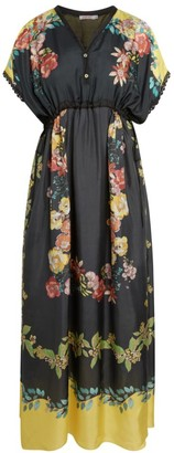 Johnny Was Ginny Floral Silk Dress