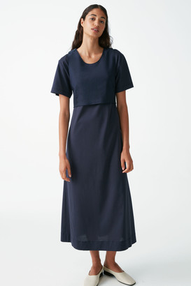 Cos Layered Cotton Jersey Dress