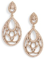 Jenny Packham Women's Openwork Crystal Drop Earrings