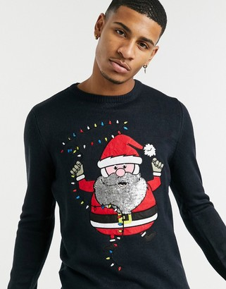 Brave Soul dancing santa Christmas sweater